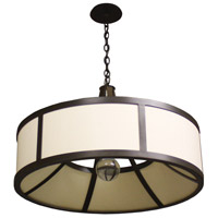 Stonegate SCHLP01CB-RB-206 Chelsea 6 Light 32 inch Hand Rubbed Bronze Pendant Ceiling Light in Ivory Silk Dupioni