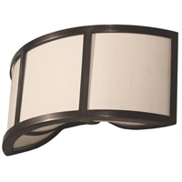 Stonegate SCHLS01CB-RB-206 Chelsea 2 Light 14 inch Hand Rubbed Bronze Sconce Wall Light in Ivory Silk Dupioni
