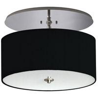 Stonegate SCLQC02L1-BN-304 Classique LED 20 inch Brushed Nickel Semi-Flush Mount Ceiling Light in LED 120V Black Linen