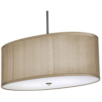 Stonegate SCLQP20MB-BN-302 Classique 2 Light 20 inch Brushed Nickel Pendant Ceiling Light in Oatmeal Linen