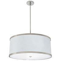 Stonegate SHLXP02L1-PN-209 Helix LED 24 inch Polished Nickel Pendant Ceiling Light in LED 120V White Silk Dupioni