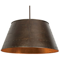 Stonegate SINDP02MB-RB Industry 3 Light 30 inch Hand Rubbed Bronze Pendant Ceiling Light