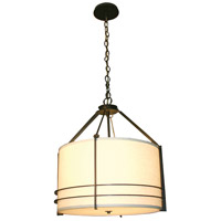 Stonegate SMESP03MB-RB-303 Mesa 3 Light 24 inch Hand Rubbed Bronze Pendant Ceiling Light in Medium Base White Linen
