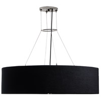 Stonegate SNOVP01L1-BN-501 Nova LED 20 inch Brushed Nickel Pendant Ceiling Light in LED 120V Horizontal Black Corduroy