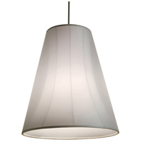 Stonegate SSILP01MB-PN-601 Silhouette 1 Light 24 inch Polished Nickel Pendant Ceiling Light in White Sheer Organza