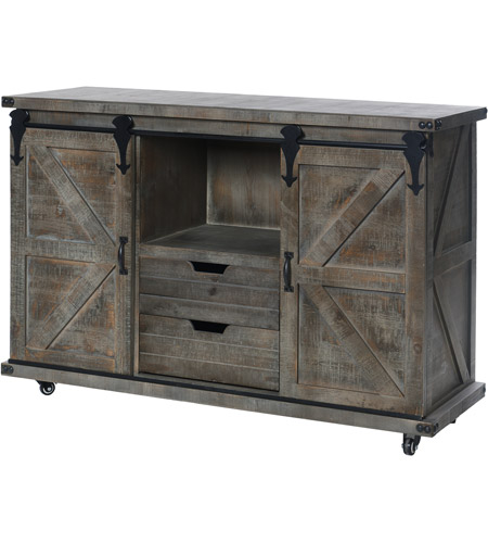 StyleCraft Home Collection AF17797DS Presley Driftwood Grey Cabinet Photo