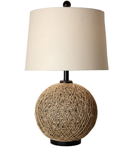 StyleCraft Home Collection CJT1041DS Signature 29 inch 150 watt Natural Rope Table Lamp Portable Light photo thumbnail