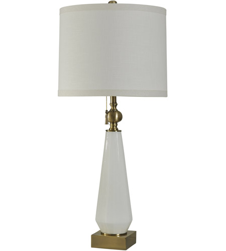 StyleCraft Home Collection JS2596DS Signature 39 inch 100 watt White Glass Table Lamp Portable Light photo thumbnail