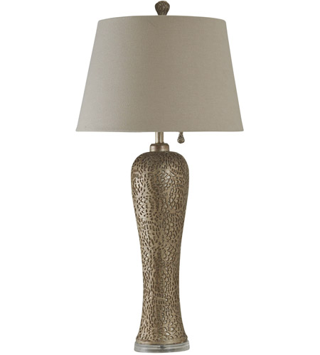 StyleCraft Home Collection JS2627DS Signature 4 inch 100 watt Bellevue Silver Table Lamp Portable Light photo thumbnail