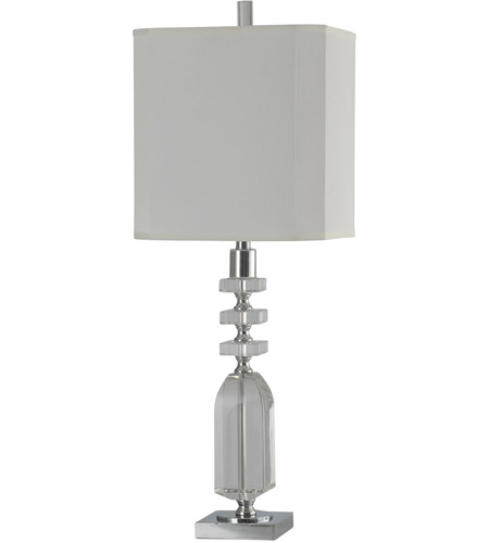StyleCraft Home Collection JS314227DS Signature 33 inch 150 watt Crystal and Chrome Table Lamp Portable Light photo thumbnail