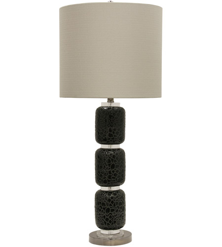 StyleCraft Home Collection JS314256DS Signature 38 inch 100 watt Black Table Lamp Portable Light photo thumbnail