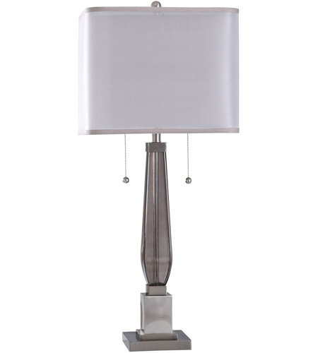StyleCraft Home Collection JS317250DS Ottery 37 inch 60 watt Smoke and Brushed Steel Table Lamp Portable Light photo thumbnail