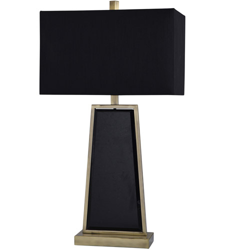StyleCraft Home Collection JS317963DS Ealing 30 inch 100 watt Black and Brushed Brass Table Lamp Portable Light photo thumbnail