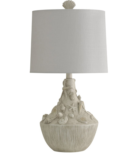 StyleCraft Home Collection KL25386DS Signature 26 inch 150 watt White Sandstone Table Lamp Portable Light photo