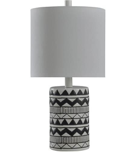 StyleCraft Home Collection L28100BDS Signature 19 inch 40 watt Black and White Table Lamp Portable Light photo thumbnail