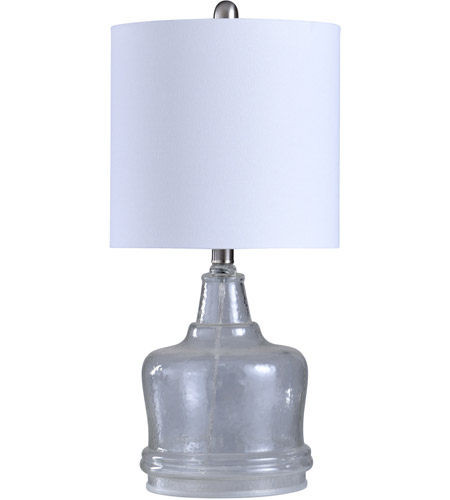 Clear and White Table Lamps