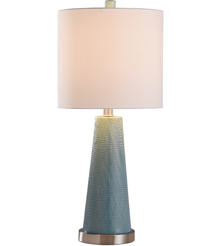 StyleCraft Home Collection L28533DS Signature 25 inch 100 watt Teal and Brushed Steel Table Lamp Portable Light alternative photo thumbnail