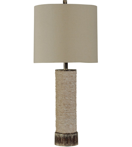 Beige Poly Signature Table Lamps