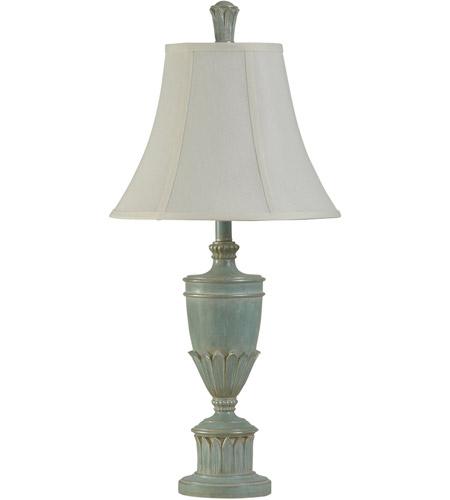 StyleCraft Home Collection L310241DS Signature 3 inch 100 watt Cibali Blue  Table Lamp Portable Light