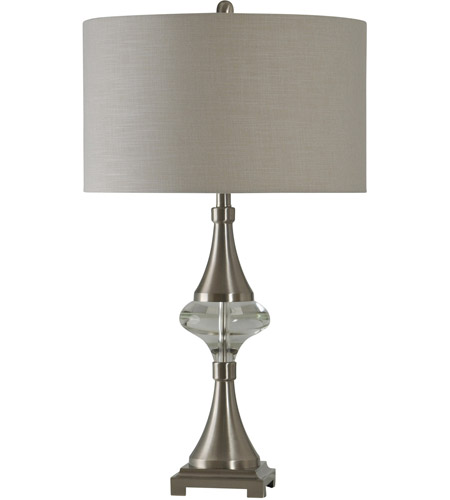 StyleCraft Home Collection L311139DS Signature 32 inch 150 watt Brushed Steel Table Lamp Portable Light photo thumbnail