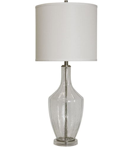 StyleCraft Home Collection L311602DS Signature 37 inch 150 watt Seeded Glass Table Lamp Portable Light photo thumbnail