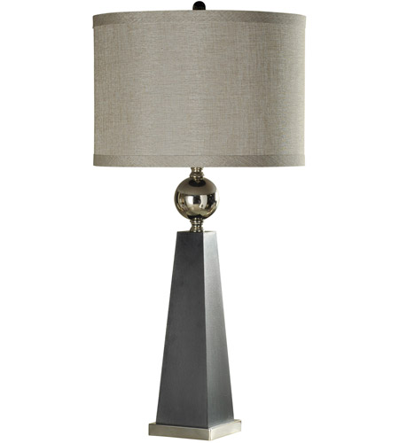 StyleCraft Home Collection L312897DS Signature 38 inch 150 watt Gray and Chrome Table Lamp Portable Light photo thumbnail