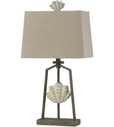 StyleCraft Home Collection L315623DS Catalonia 28 inch 60 watt Cream and Weathered Brown Table Lamp Portable Light photo thumbnail