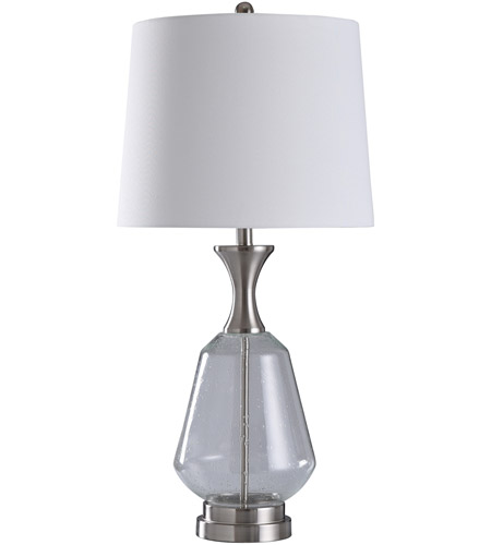 StyleCraft Home Collection L316281DS Kendal 35 inch 150 watt Brushed Steel and Missing Glass Color Table Lamp Portable Light photo thumbnail