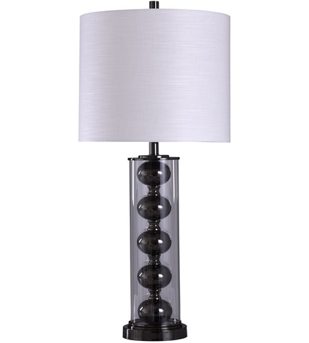Nickel and Clear Signature Table Lamps