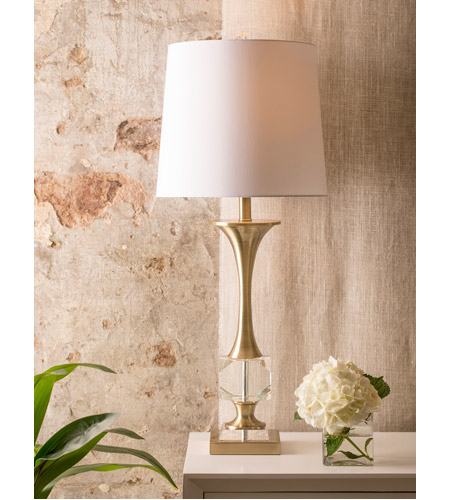 StyleCraft Home Collection L316896DS Signature 34 inch 150 watt Crystal and Polished Nickle with White Table Lamp Portable Light alternative photo thumbnail