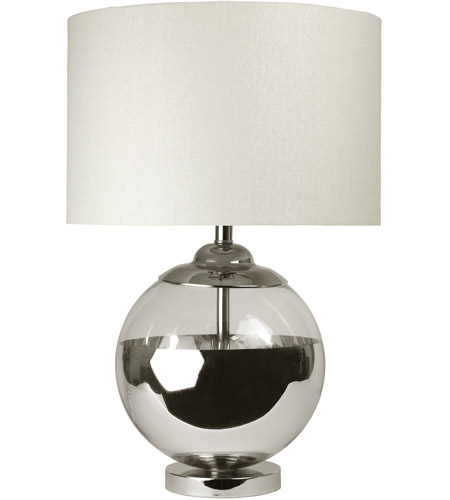 Chrome Mercury Glass Table Lamps