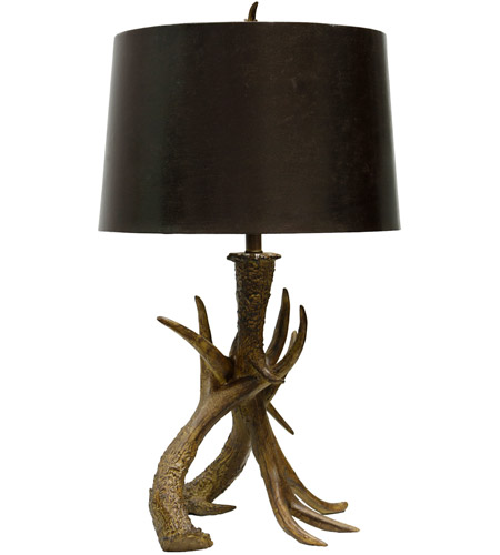 StyleCraft Home Collection L36613DS Signature 32 Inch 150 Watt Dark Brown Table  Lamp Portable Light Photo