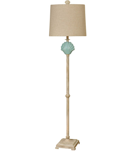 StyleCraft Home Collection L710716DS Signature 65 inch 100 watt Light Blue Floor Lamp Portable Light photo thumbnail