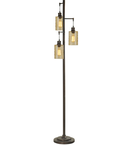 StyleCraft Home Collection L712571DS Signature 72 inch 40 watt Bronze Floor Lamp Portable Light photo thumbnail