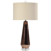 Copper Metallic Glass Table Lamps