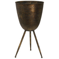 StyleCraft Home Collection AC71171DS Signature Antique Gold Flower Pot