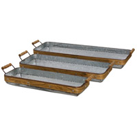Signature Galvanized and Natural Tray