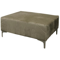 Roxie Rose 28 inch Chrome and Grey Ottoman