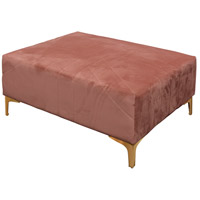 Roxie Rose 28 inch Gold and Pink Ottoman