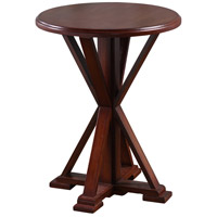 StyleCraft Home Collection AF16745DS Presley 23 X 18 inch Dark Brown Accent Table