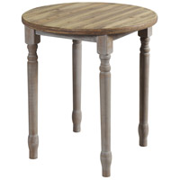 StyleCraft Home Collection AF17646ADS Quail Farm 26 X 24 inch Natural and Grey Spool Table