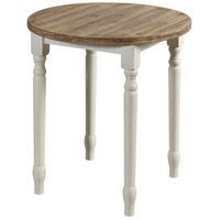StyleCraft Home Collection AF17646DS Quail Farm 26 X 24 inch Natural and White Spool Table