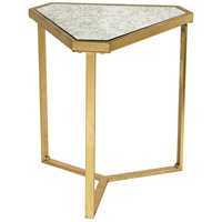 Roxie Rose 19 inch Gold and Clear TV Stand