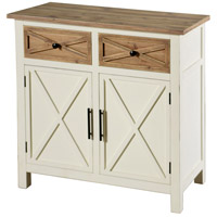 Quail Farm White and Natural Cabinet