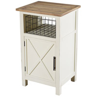 StyleCraft Home Collection AF17814DS Quail Farm 32 X 19 inch White and Natural Side Table