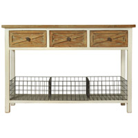 StyleCraft Home Collection AF17815DS Quail Farm 32 X 16 inch White and Natural Console Table