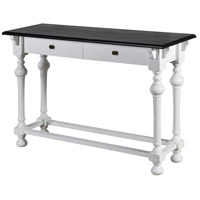Church St. 40 X 14 inch White and Black Console Table
