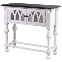 Church St. 36 X 14 inch White and Black Console Table