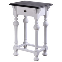 StyleCraft Home Collection AF17932DS Church St. 28 X 18 inch White and Black End Table