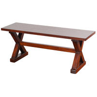 Presley Natural Brown Bench